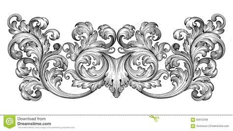 vintage ornament vector pattern 9 scroll border vector images free vintage scroll