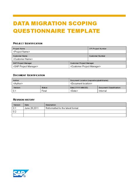 data migration document template data migration cutover checklist template