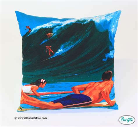 Hawaii Pillow by Hawaiian Surfers Pacific Pillow Co