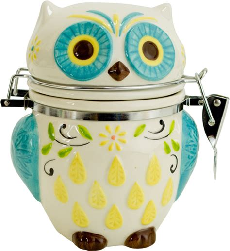 owl canisters for the kitchen hinged jar floral owl in kitchen canisters
