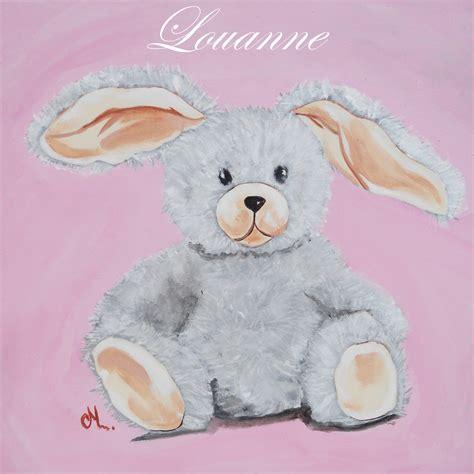 Supérieur Photo De Chambre Fille #6: tableau-enfant-personnalise-lapin-decoration-chambre.jpeg