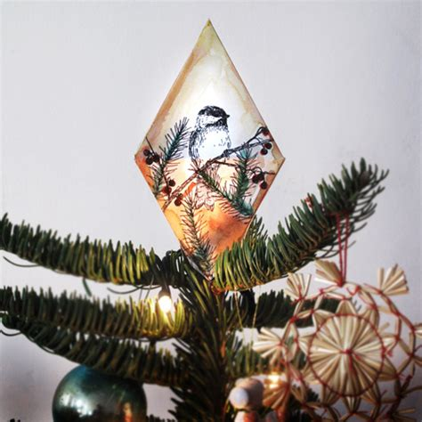 make your own christmas tree topper diy ideas make ornaments at home pretty designs
