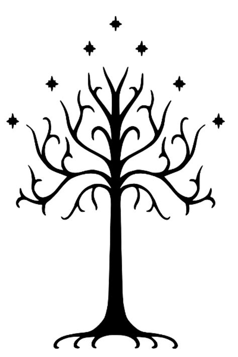 tree of gondor tattoo the white tree of gondor tattoos white
