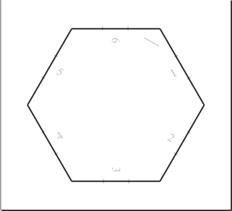 6 inch hexagon template telecanter s receding hex geo template