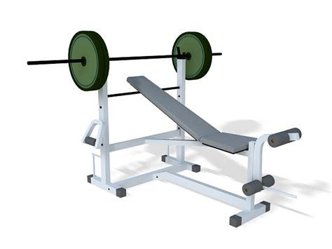 bench press modells bench press set 3d model 3ds max files free download
