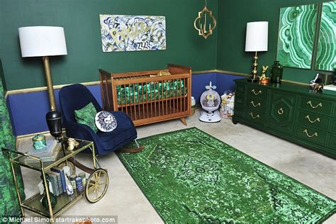 tori spelling home decor tori spelling shows off son beau s posh emerald nursery