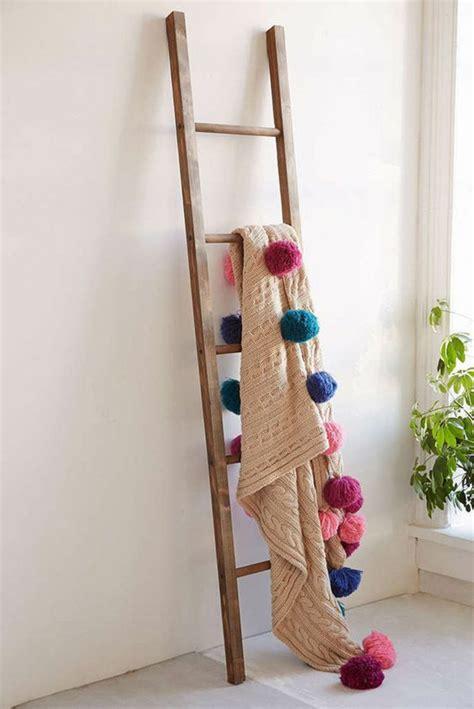 shabby wooden blanket ladder home decorating trends homedit