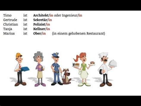 german vocabulary: berufe / jobs youtube