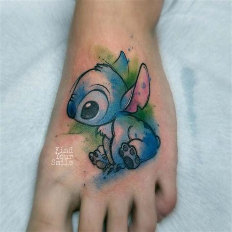 stitch tattoo  foot  tattoo ideas gallery