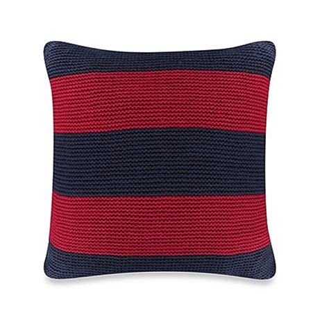 nautica bed pillows nautica 174 mainsail knit square throw pillow in red bed bath beyond