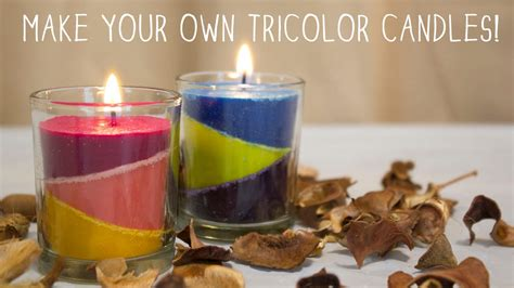 how to make your own tricolor candles diy candles