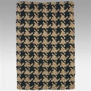 Houndstooth Area Rug Houndstooth Jute Area Rug Black Contemporary Rugs By Hayneedle