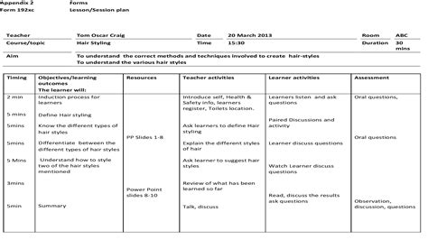 lesson plan template uk