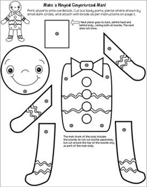 printable gingerbread man paper bag puppet use paper fasteners or quot brads quot to attach the limbs of your