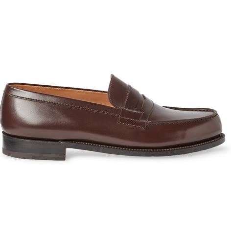 jm weston loafers lyst j m weston 180 the mocassin leather loafers in