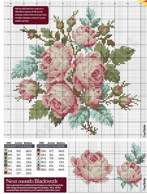 schemi ricamo fiori oltre 25 idee originali per fiori a punto croce su