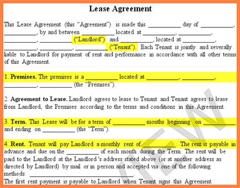rental agreement  family members purchase
