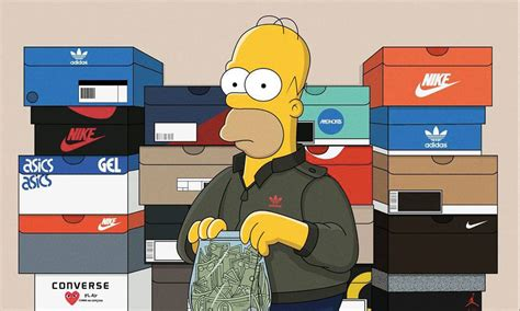 Bantal Hypebeast Sneaker Fans Supreme Gucci the simpsons imagined as sneakerheads highsnobiety