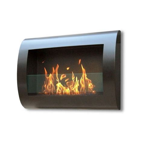 indoor wall fireplace chelsea black indoor wall hung bio fuel fireplace