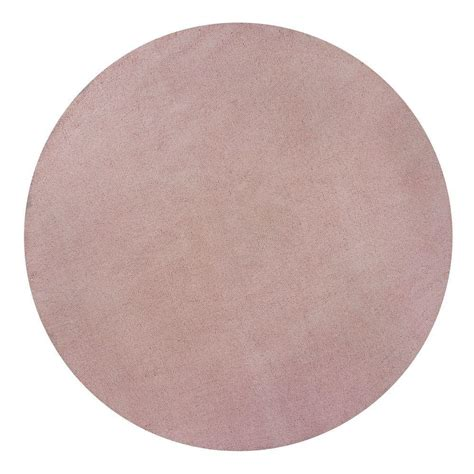 soft pink area rug home decorators collection cozy shag soft pink 6 ft x 6 ft area rug 0397235100 the