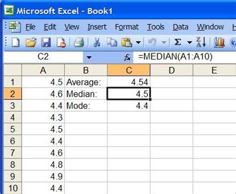 Statistics In Excel Science Fair Statistics