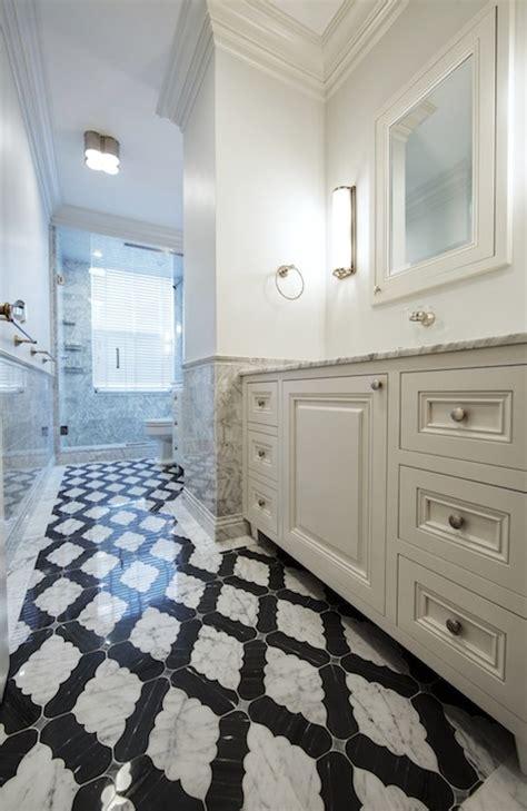 moorish tile floor contemporary bathroom the