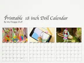 Where S My Calendar My Froggy Stuff Printable Dollhouse Calendars