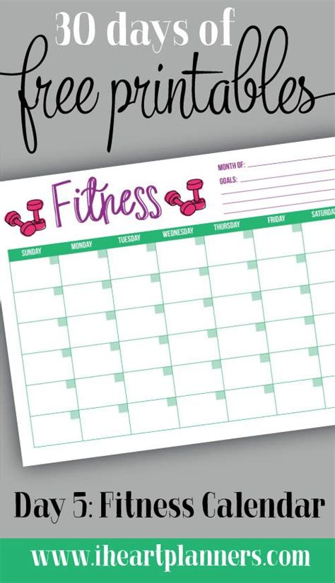 free printable fitness planner 2016 day 5 fitness calendar chair yoga poses burn calories