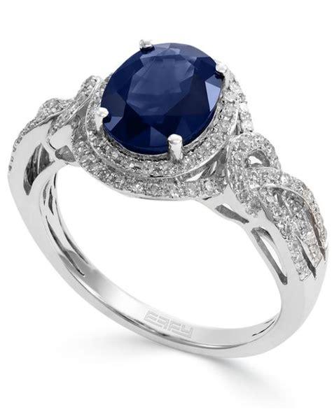 Blue Sapphire 1 9 Ct effy collection royale bleu by effy sapphire 1 9 10 ct t
