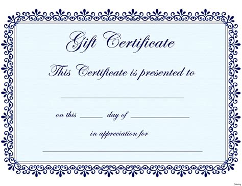 editable gift certificate template free editable certificate templates word image collections