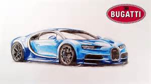 Drawing Bugatti How To Draw Bugatti Chiron
