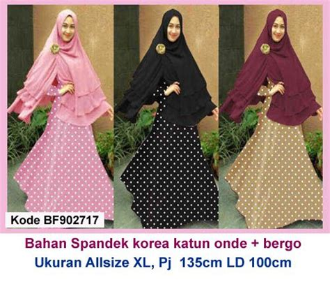Gamis Polka Saten 1000 images about model gamis terbaru on models polos and satin