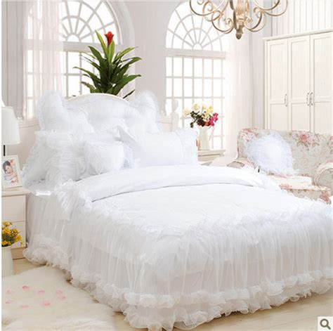 white king size comforter set aliexpress buy 4pcs 6pcs princess bedding set snow