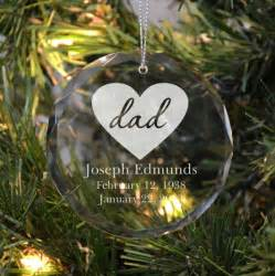 memorial ornament for dad with a heart remember me gifts