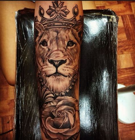 lioness with crown tattoo search tattoos