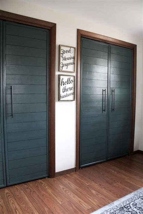 Adding Trim To Bifold Closet Doors - modern doors on closet