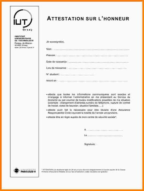 Exemple De Lettre Sur L Honneur 12 Attestation Sur L Honneur Exemple Exemple Lettre