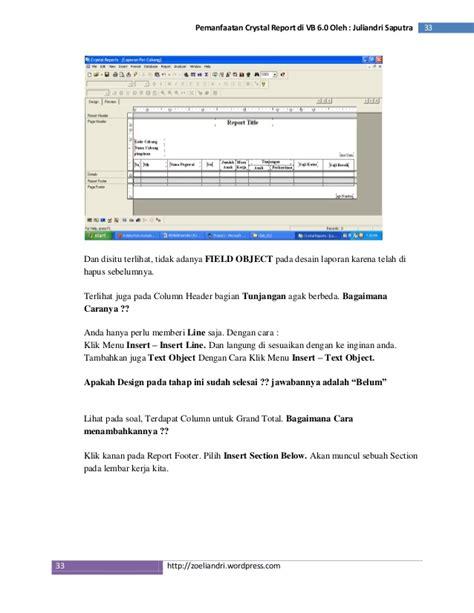 report design adalah pemanfaatan crystal report 8 5 pada vb6