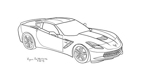 corvette free coloring pages
