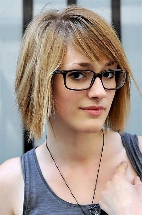 hairstyles for oval face with glasses 20 ideas of short hairstyles for ladies with glasses