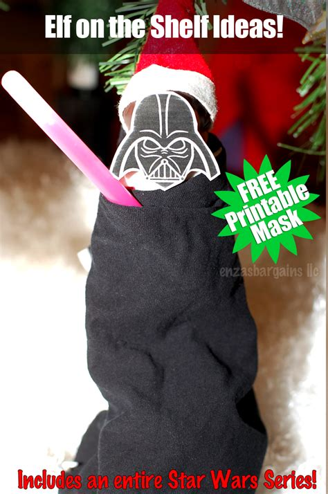 printable mask for elf on the shelf ultimate star wars printables round up