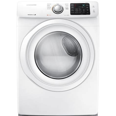 samsung dryer shop samsung 7 5 cu ft stackable electric dryer white at lowes