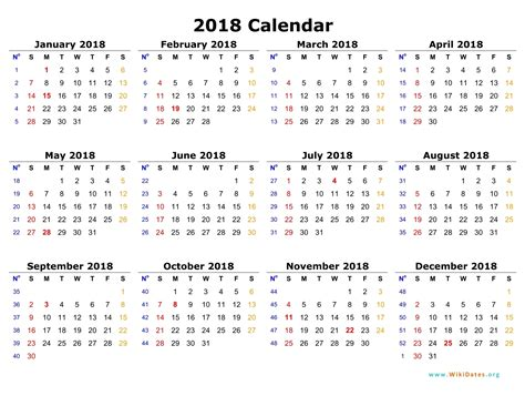 printable calendar 2018 in one page a4 calender 2018 page printable calendar 2018