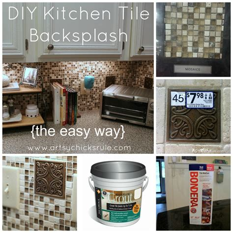 diy backsplash kitchen kitchen tile backsplash do it yourself artsy rule 174