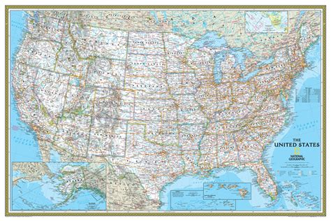 national map national geographic usa classic wall map maps