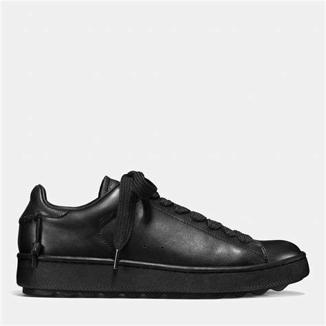coach sneakers mens lyst coach leather low top sneaker in black for