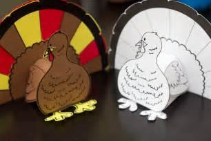 thanksgiving 3d turkey cutout downloadable art project for