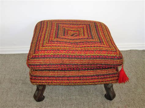 Vintage Colorful Ottoman Bench Or Stool For Sale At 1stdibs Colorful Ottomans For Sale