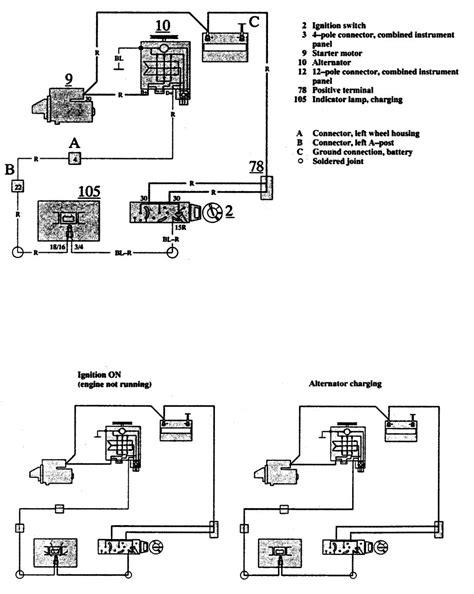 volvo 740 wiring diagram volvo 740 1991 wiring diagrams charging system