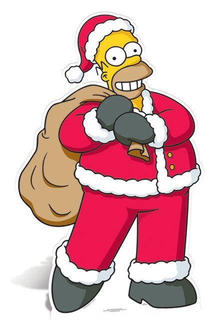lifesize cardboard cutout of homer santa claus from the simpsons buy cutouts standees